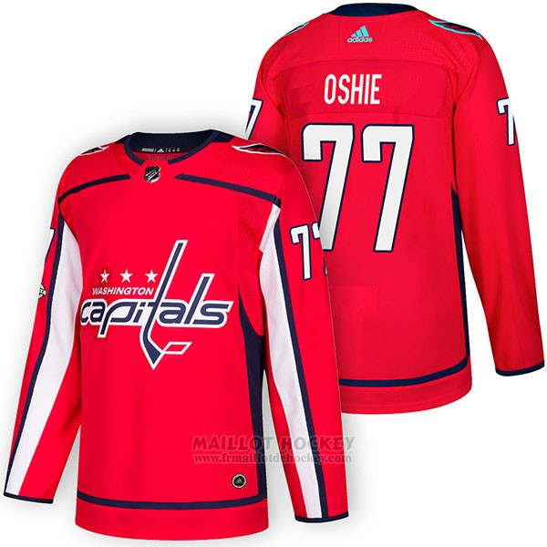 Maillot Authentique Washington Capitals 77 T.j. Oshie Home 2018 Rouge