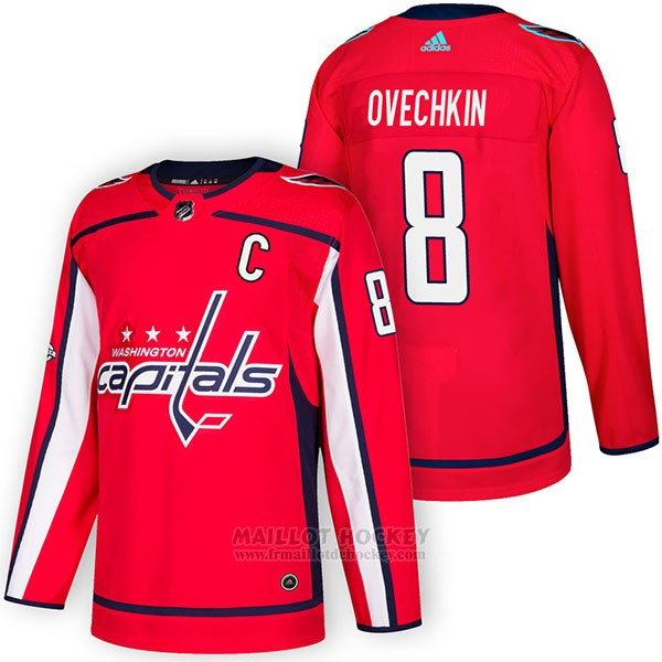 Maillot Authentique Washington Capitals 8 Alex Ovechkin Home 2018 Rouge