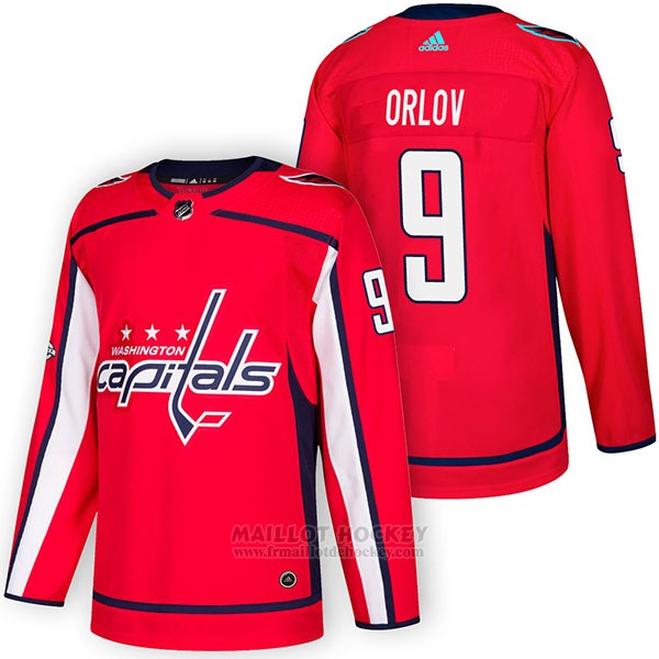 Maillot Authentique Washington Capitals 9 Dmitry Orlov Home 2018 Rouge