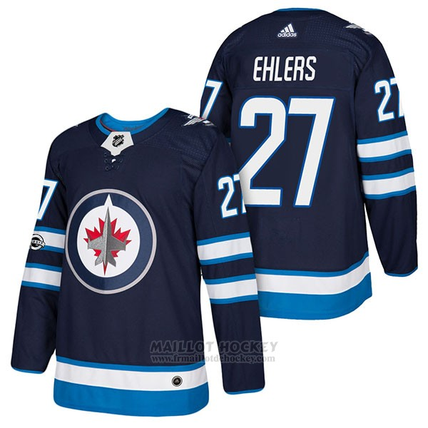 Maillot Authentique Winnipeg Jets 27 Nikolaj Ehlers Home 2018 Bleu