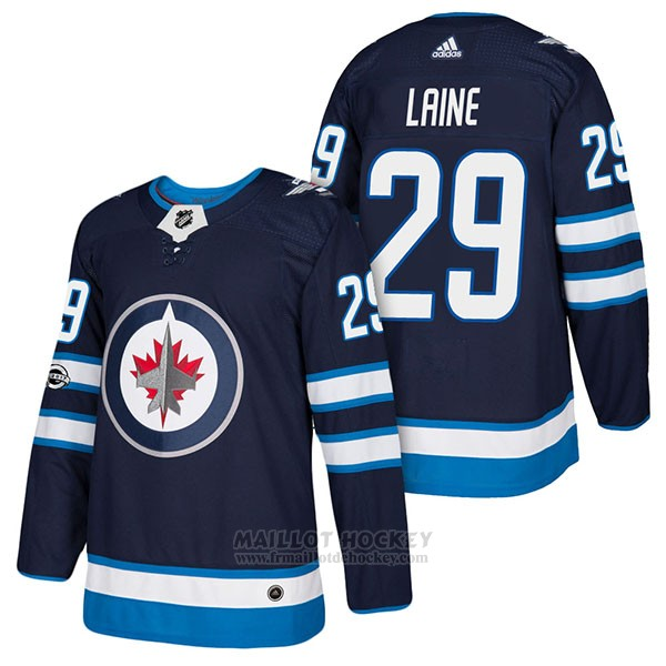Maillot Authentique Winnipeg Jets 29 Patrik Laine Home 2018 Bleu