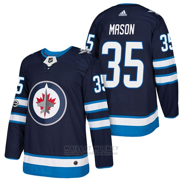 Maillot Authentique Winnipeg Jets 39 Steve Mason Home 2018 Bleu