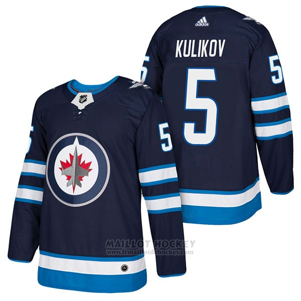 Maillot Authentique Winnipeg Jets 5 Dmitry Kulikov Home 2018 Bleu
