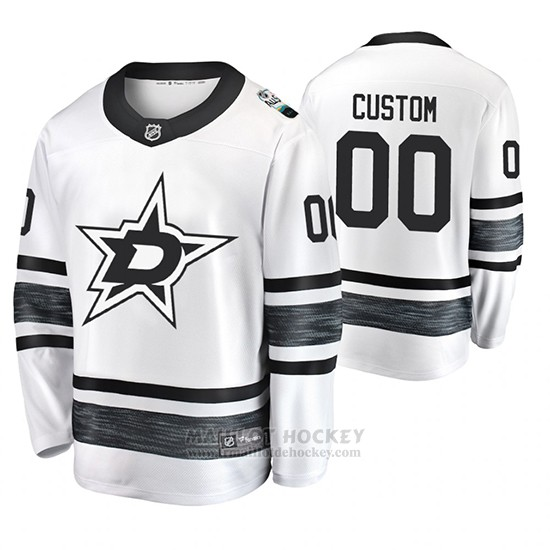 Maillot Dallas Stars Personnalise 2019 All Star Blanc