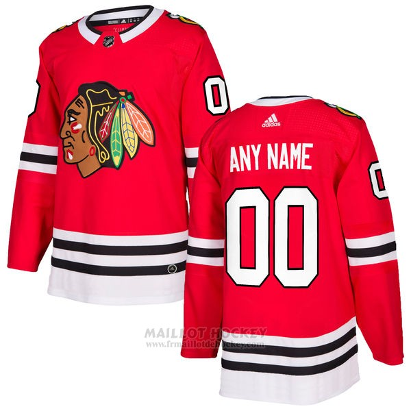Maillot Chicago Blackhawks Primera Personnalise Rouge