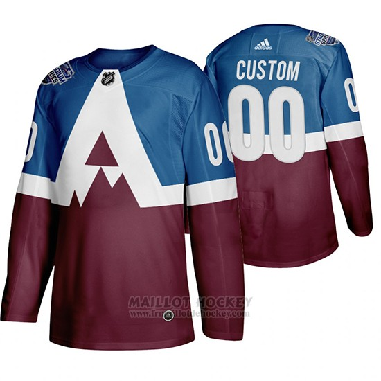 Maillot Colorado Avalanche Personnalise 2020 Stadium Series Bleu