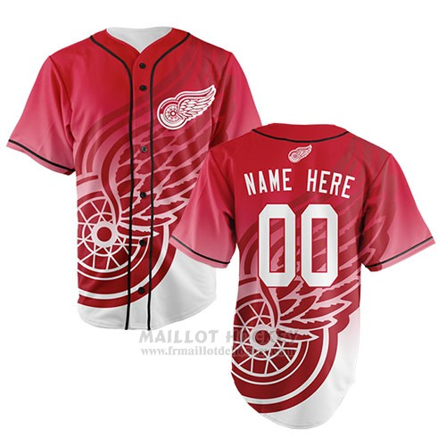 Maillot Detroit Red Wings Personnalise Rouge