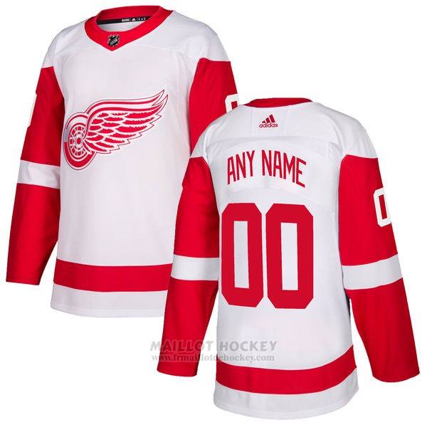 Maillot Detroit Red Wings Segunda Personnalise Blanc