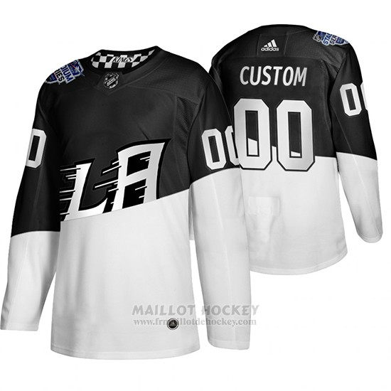Maillot Los Angeles Kings Personnalise 2020 Stadium Series Blanc Noir
