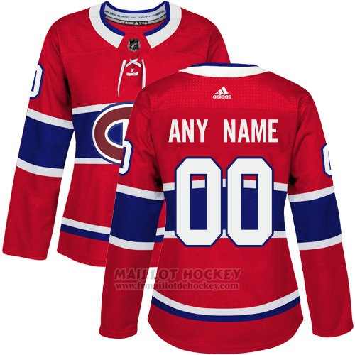 Maillot Femme Montreal Canadiens Primera Personnalise Rouge