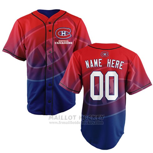 Maillot Montreal Canadiens Personnalise Rouge