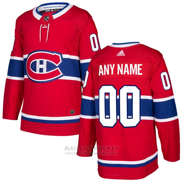Maillot Montreal Canadiens Primera Personnalise Rouge