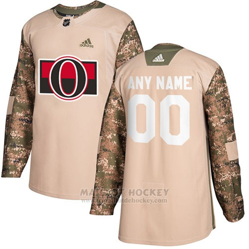 Maillot Ottawa Senators Camo Authentique 2017 Veterans Day Stitched Personnalise