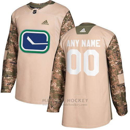 Maillot Vancouver Canucks Camo Authentique 2017 Veterans Day Stitched Personnalise