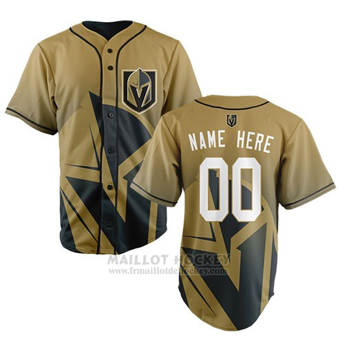 Maillot Vegas Golden Knights Personnalise Jaune