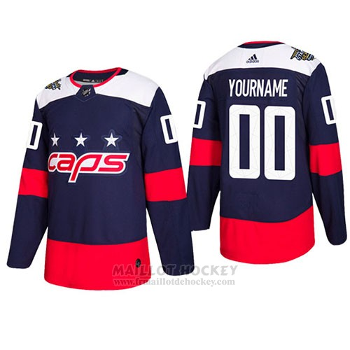 Maillot Enfant Washington Capitals Authentique 2018 Stadium Stitched Personnalise Bleu